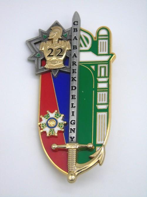 """Insigne ESM4 """"Chef de bataillon Barek de Ligny"""""""
