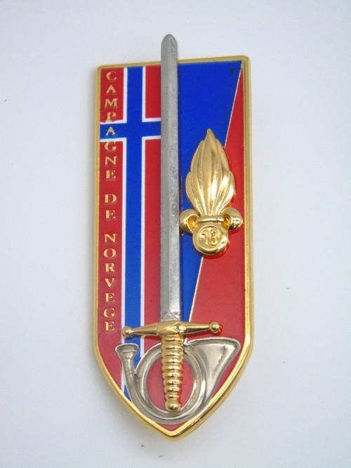"""Insigne ESM4 """"Campagne de Norvège"""""""