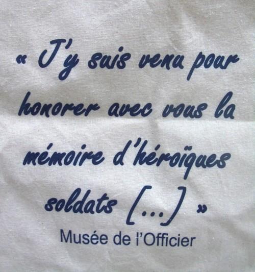 """Tote bag """"Musée de l'Officier"""""""